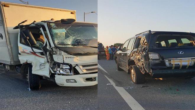 Nhân chứng kể vụ tài xế Lexus biển tứ quý 8 bị xe tải đâm tử vong khi làm việc với CSGT 2