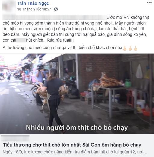 """Lên tiếng phản đối việc ăn và bán thịt chó, nhưng em gái ruột của Quang Vinh lại bị """"ném đá"""" vì dùng từ ngữ gay gắt 3"""