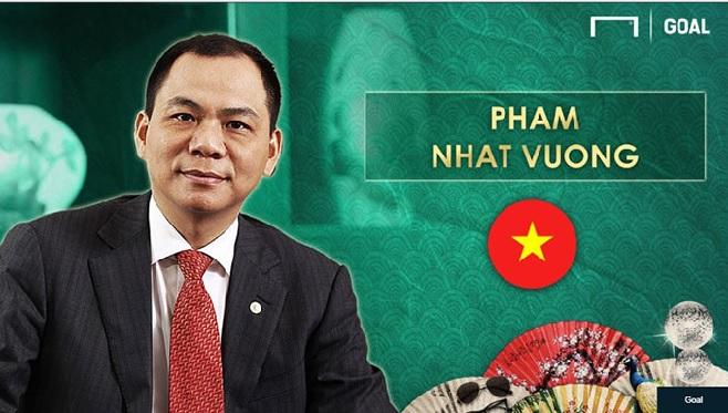 Tỷ phú Phạm Nhật Vượng lọt top ông bầu bóng đá giàu nhất Châu Á 1