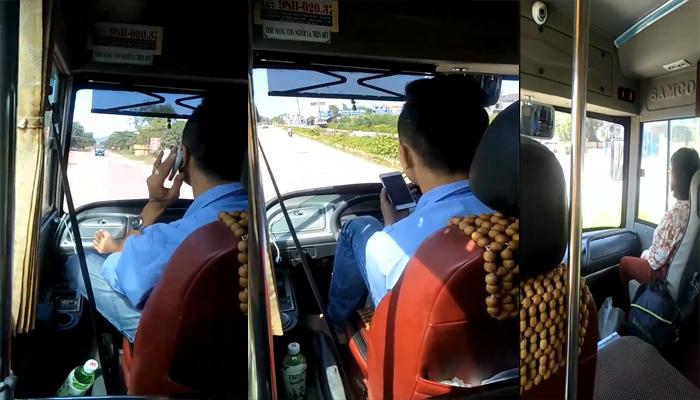 Thông tin mới nhất vụ tài xế xe buýt gác chân lên vô lăng, tay cầm điện thoại chửi tục  1