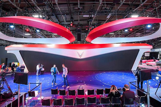 Lộ diện gian hàng VinFast tại Paris Motor Show trước giờ G: Mang cả biểu tượng hoa sen tới nước Pháp 3