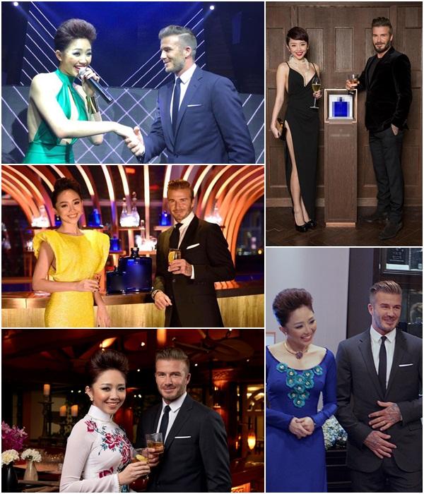 Điểm danh những mỹ nhân Việt từng may mắn sánh đôi với David Beckham 5