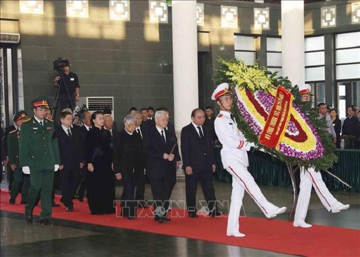 Hình ảnh Lễ viếng nguyên Tổng Bí thư Đỗ Mười 4