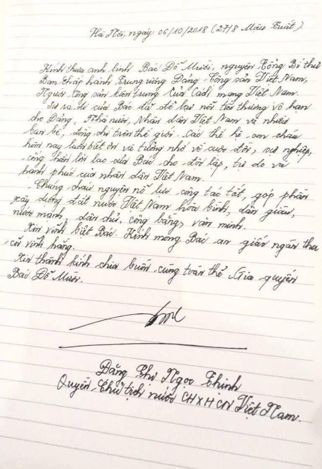 Lời từ biệt xúc động trong sổ tang cố Tổng Bí thư Đỗ Mười 4