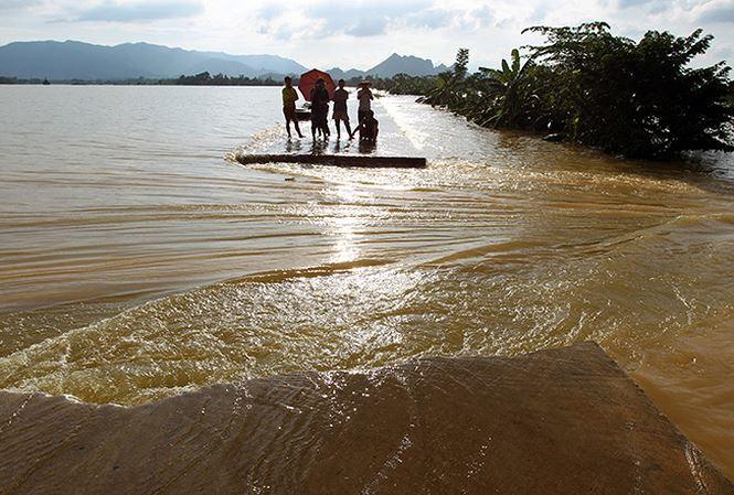 Vĩnh Long: Vỡ đê bao, nhiều xã tỉnh chìm trong biển nước 2