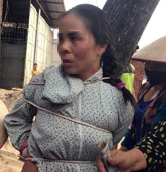 Thông tin mới nhất về vụ người phụ nữ bị trói vào gốc cây ở Vĩnh Phúc 1