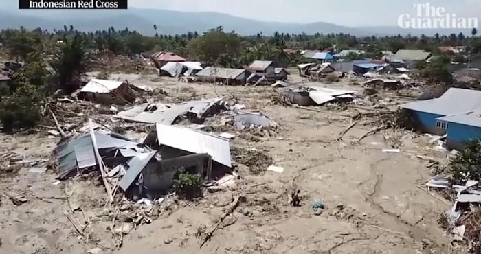 Sau thảm họa kép, 2 ngôi làng ở Indonesia bị xóa sổ nhìn từ vệ tinh 3