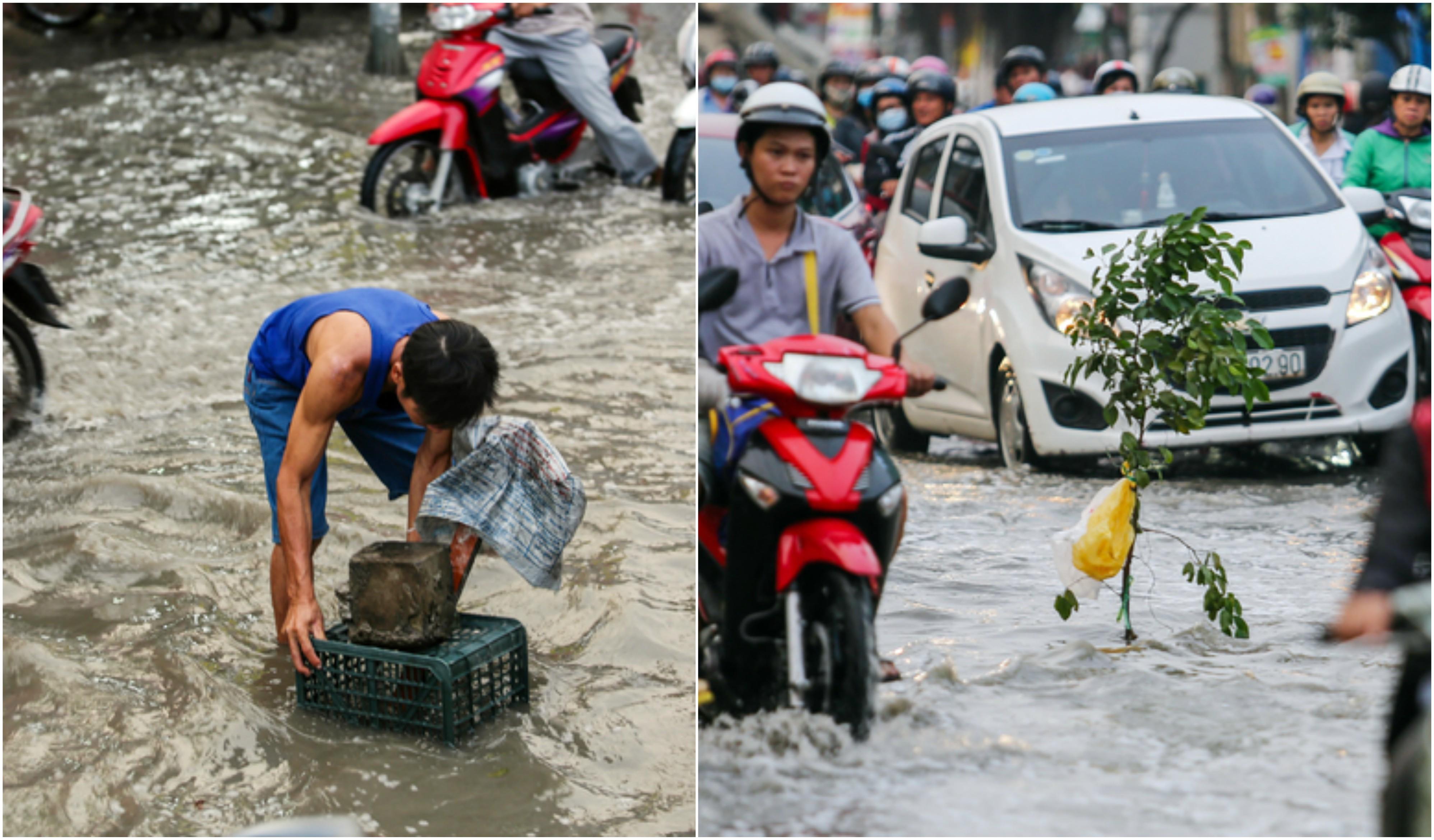 Xúc động những hành động đẹp của người Sài Gòn trong ngày triều cường dâng cao 4