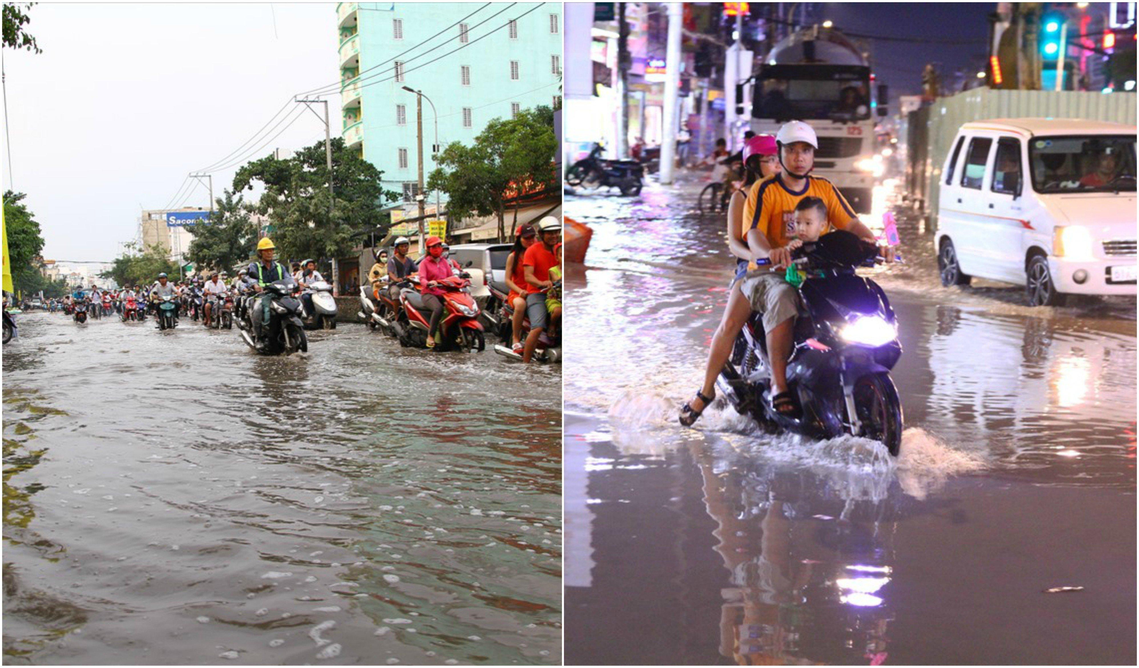 Xúc động những hành động đẹp của người Sài Gòn trong ngày triều cường dâng cao 1