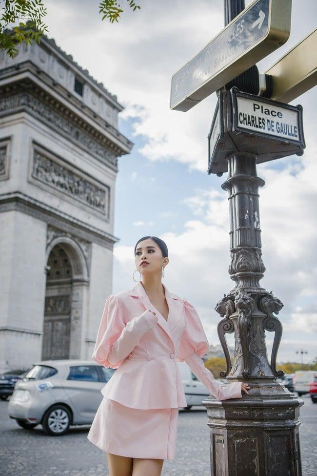 Choáng ngợp trước vẻ đẹp xuất thần của Hoa hậu Tiểu Vy trên đất Pháp sau sự kiện Vinfast 12