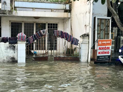 Hình ảnh Triều cường kỷ lục, người dân Cần Thơ đi xuồng xuống phố, nhà cửa chìm trong biển nước số 6