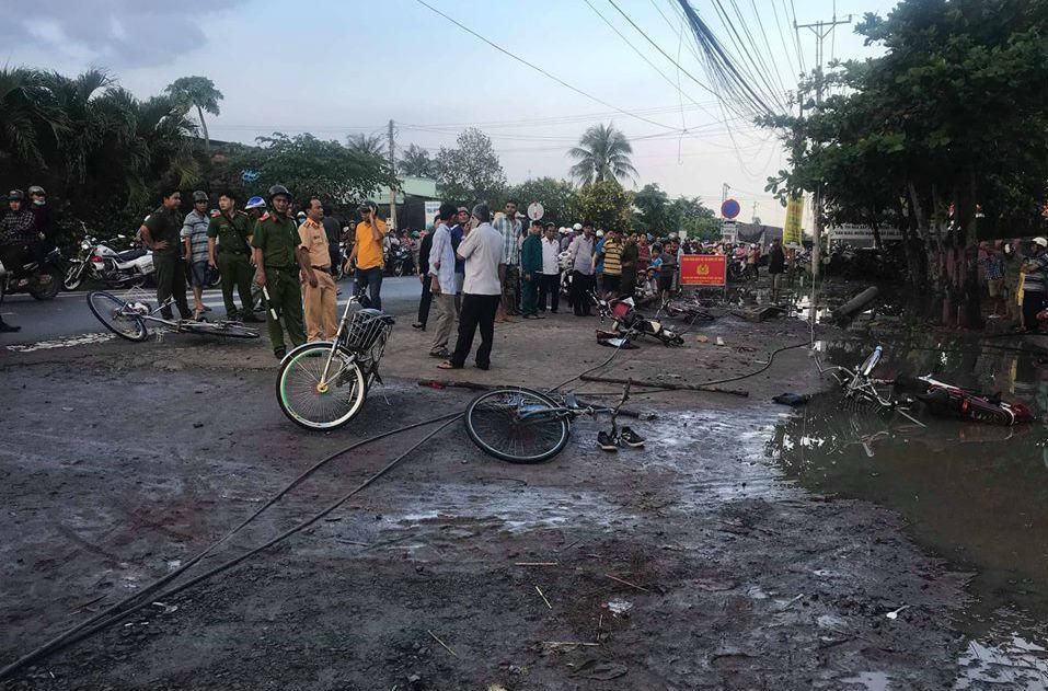 Điện lực Long An lên tiếng vụ dây điện đứt khiến 2 học sinh tử vong 1