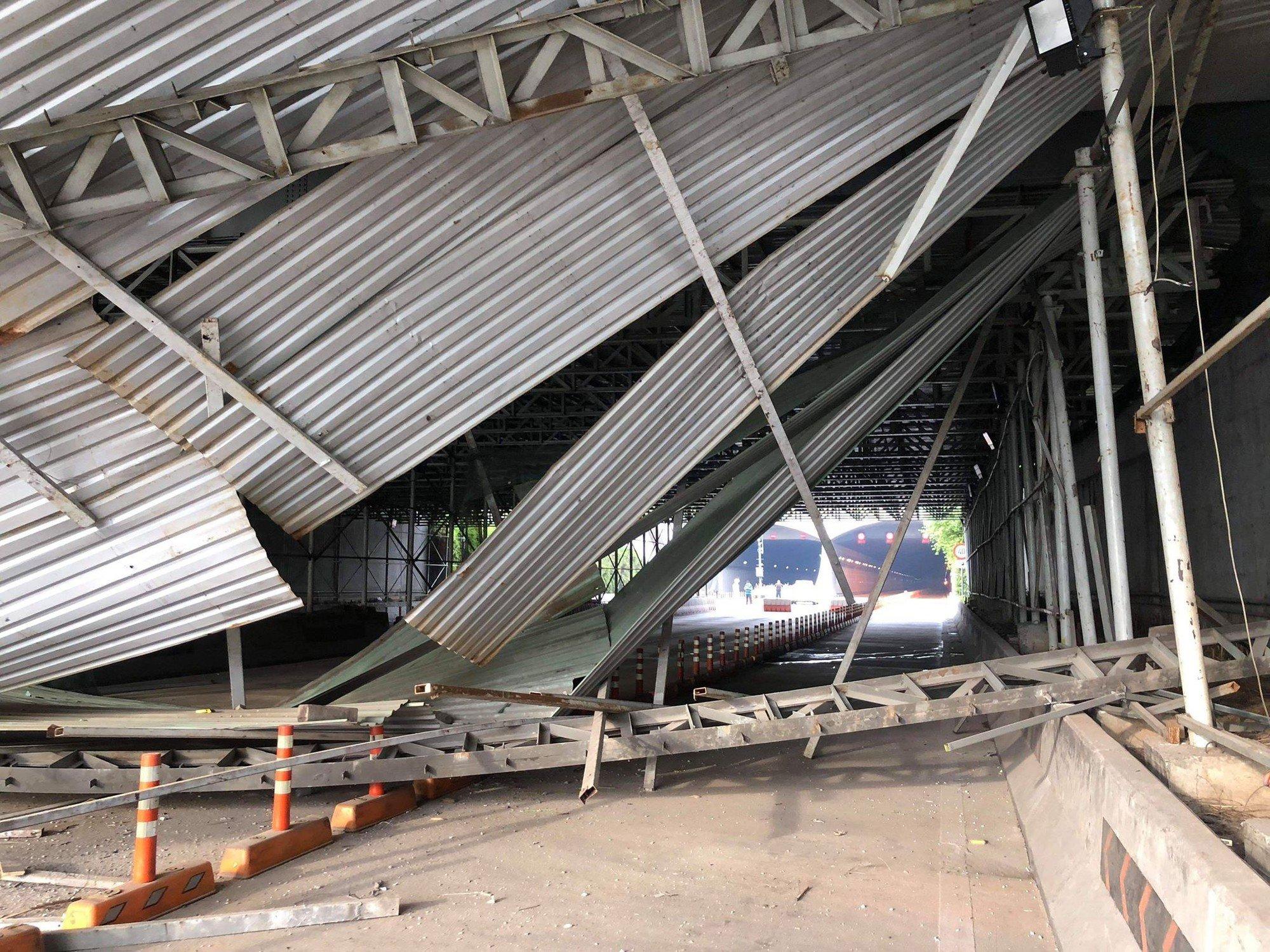 Đã tìm ra thủ phạm vụ sập công trình trước cửa hầm Thủ Thiêm khiến giao thông ùn tắc kéo dài 2