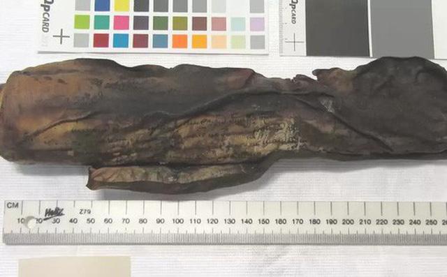 Sử dụng máy chụp cắt lớp, các nhà nghiên cứu đọc được cả văn tự cổ 500 năm đã bị cháy sém 1