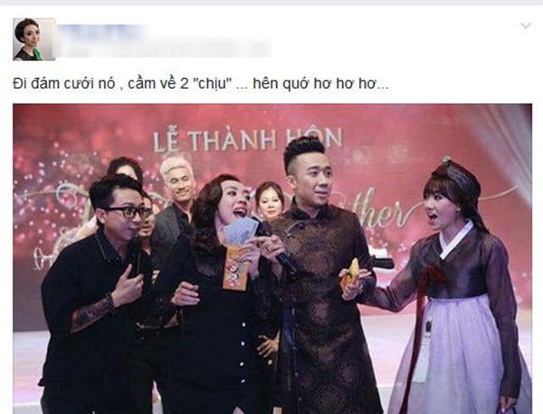 Tiền mừng đám cưới tiền tỉ của Trấn Thành và sao Việt:  Có khi chỉ 200.000 ngàn đồng trong phong bì 2