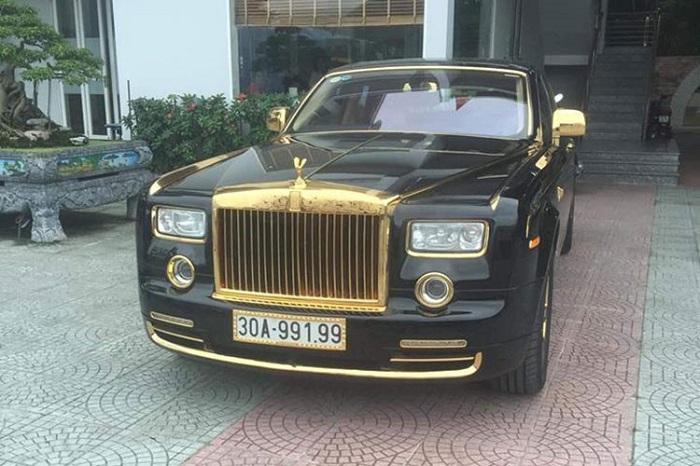 Xôn xao Rolls-Royce Phantom rồng vàng 35 tỷ xuất hiện tại Hải Phòng 1