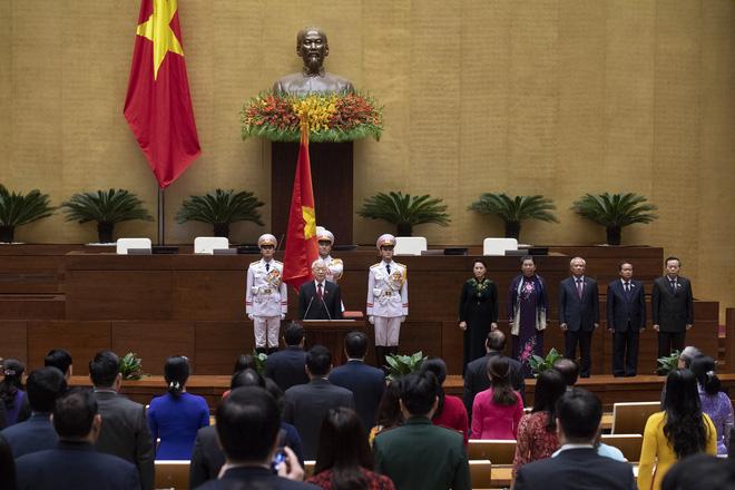 Hình ảnh Chủ tịch nước Nguyễn Phú Trọng tuyên thệ nhậm chức 6