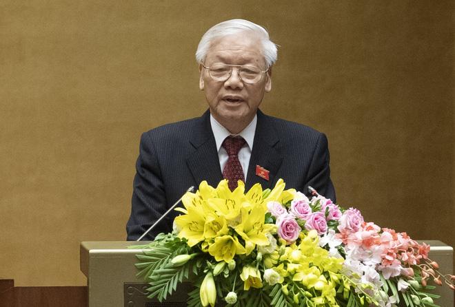 Hình ảnh Chủ tịch nước Nguyễn Phú Trọng tuyên thệ nhậm chức 7