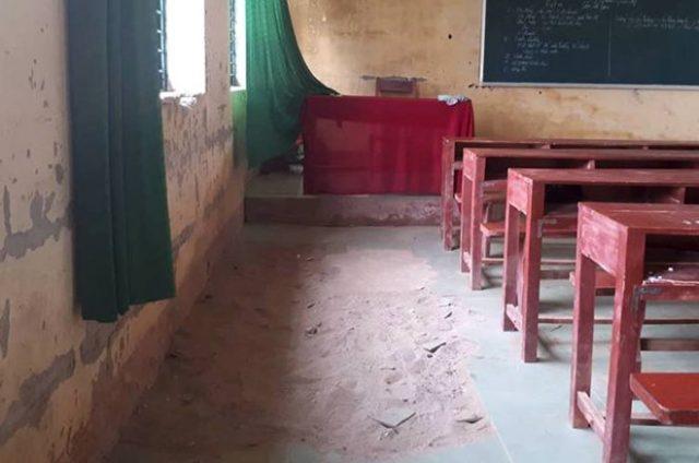 Trường lún và nứt, gần 250 học sinh ở Thanh Hoá nơm nớp lo sợ 2