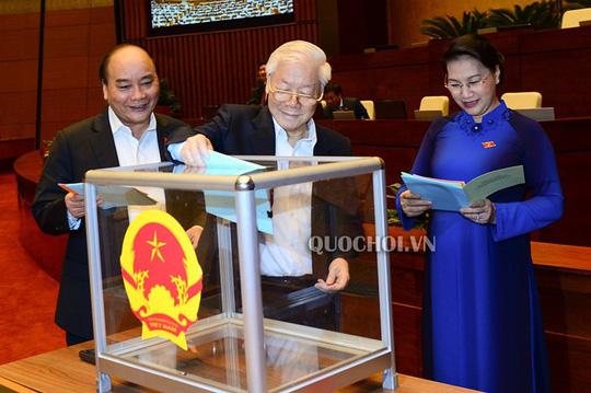 Quốc hội công bố kết quả lấy phiếu tín nhiệm 48 chức danh 1