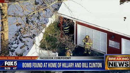 Sau văn phòng Obama, bom lại được tìm thấy tại nhà bà Clinton 1
