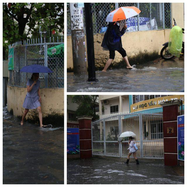 Khách Tây, trẻ em rùng mình lội nước thối ở khu nhà giàu Sài Gòn khi tan tầm 10