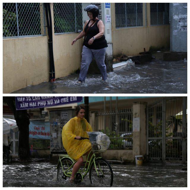 Khách Tây, trẻ em rùng mình lội nước thối ở khu nhà giàu Sài Gòn khi tan tầm 9