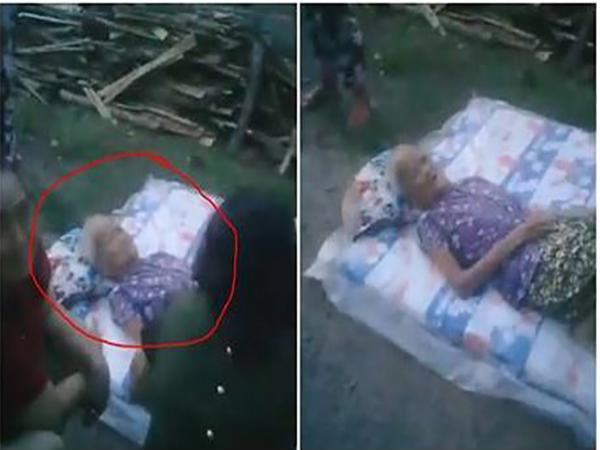 Lan truyền clip con vứt mẹ già ra đường gây xôn xao cộng đồng mạng 1