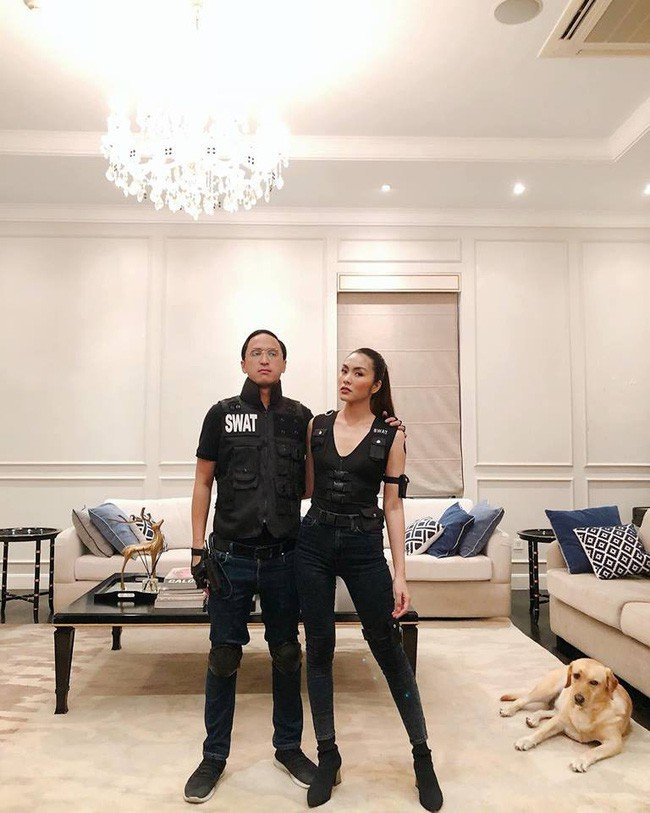 Vợ chồng Hà Tăng hóa Mr&Mrs Smith gây náo loạn đêm Halloween 2