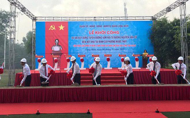 Hà Nội khởi công tuyến đường dài 1,5km với tổng mức đầu tư hơn 1.200 tỷ đồng tại quận Long Biên 1
