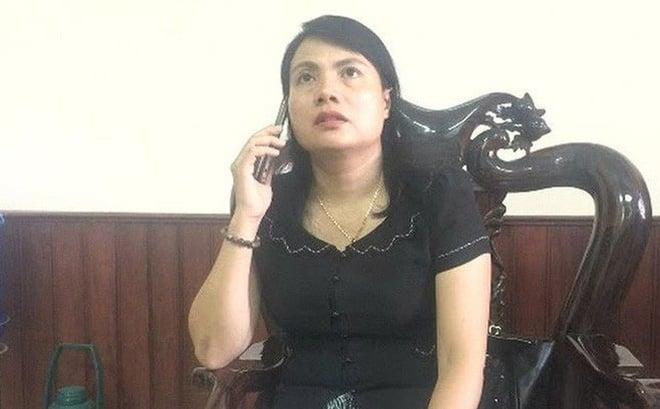 """Hình ảnh Bà Lê Thị Thủy: Bí thư huyện vượt thẩm quyền khi chỉ đạo công an """"theo dõi"""" đoàn UBKT TƯ số 1"""