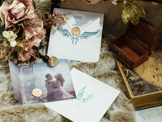 Hình ảnh Hé lộ thiệp cưới đẹp như mơ của Ưng Hoàng Phúc và người mẫu Kim Cương số 3