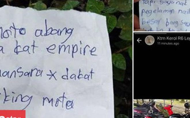 Hình ảnh Hy hữu: Trộm đồ nhưng thấy áy náy, đạo tặc viết tâm thư chỉ nơi cất giấu số 1