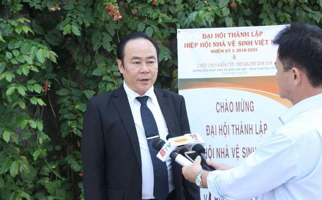 Hình ảnh Chủ tịch Hiệp hội Nhà vệ sinh Việt Nam: Chúng tôi mang tâm thiện nguyện số 1