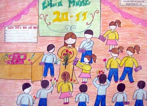 Hình ảnh Mừng ngày Nhà giáo Việt Nam 20/11: Những bài thơ hay và ý nghĩa tri ân thầy cô số 2