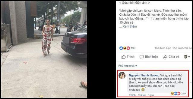 Chị Lan 'cave' phản ứng hài hước khi bị cư dân mạng chụp trộm ngoài đời 3