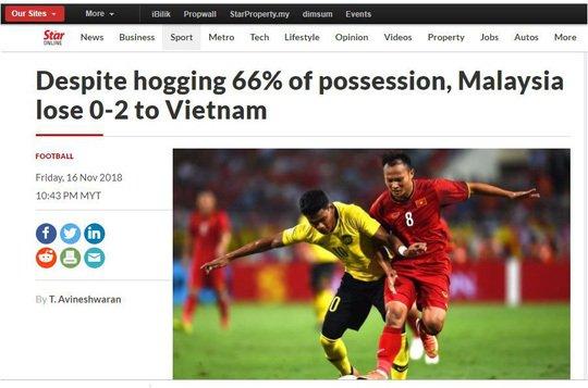 Báo quốc tế phân tích 5 lí do giúp Việt Nam giành chiến thắng Malaysia 2