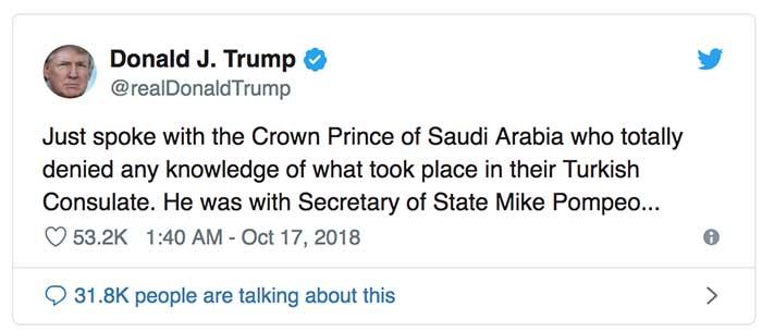 CIA xác định Thái tử Ả Rập đã ra lệnh thủ tiêu nhà báo Khashoggi? 2