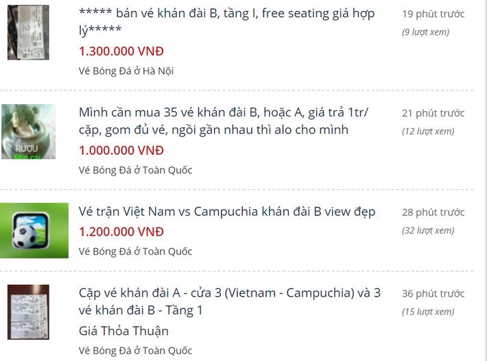 Việt Nam không thắng Myanmar khiến giá vé trận gặp Campuchia tăng vọt 1