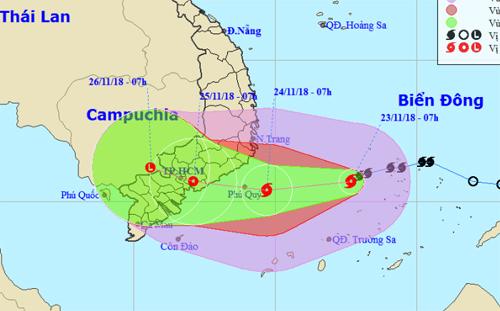 Dự báo 2 đường đi của bão số 9: Khu vực và thời gian bão đổ bộ sẽ thay đổi 5