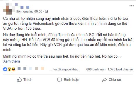 Bỗng dưng nhận cuộc gọi lạ thông báo bị khởi kiện do thẻ VISA nợ hơn 100 triệu: Vietcombank lên tiếng cảnh báo 1