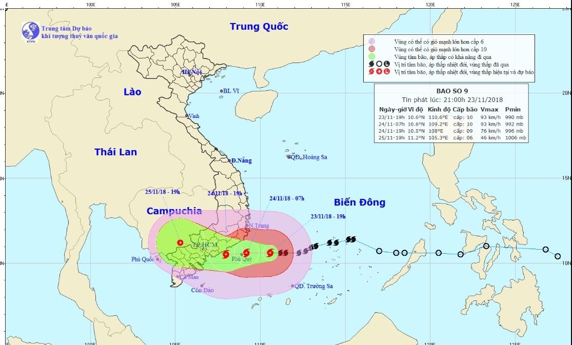 Tin bão khẩn cấp: Bão số 9 giật cấp 13, Vũng Tàu gió bắt đầu gào rít dữ dội 1