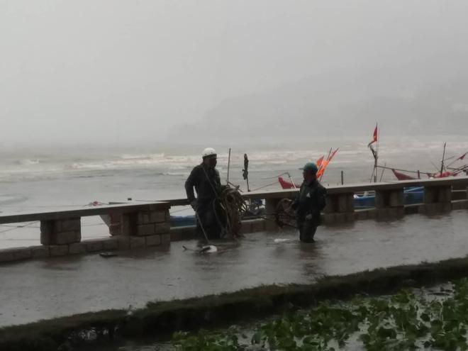 Nhiều ngư dân Vũng Tàu liều lĩnh ra biển kiểm tra tài sản giữa cơn bão số 9 quét qua 6