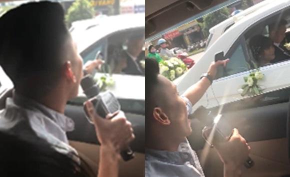 Thanh niên đuổi theo xe hoa hát bài