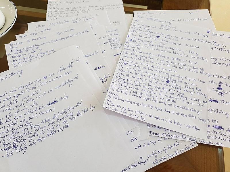 Vụ cô giáo phạt học trò 231 cái tát: Nhà trường buộc học sinh viết lời khai 1
