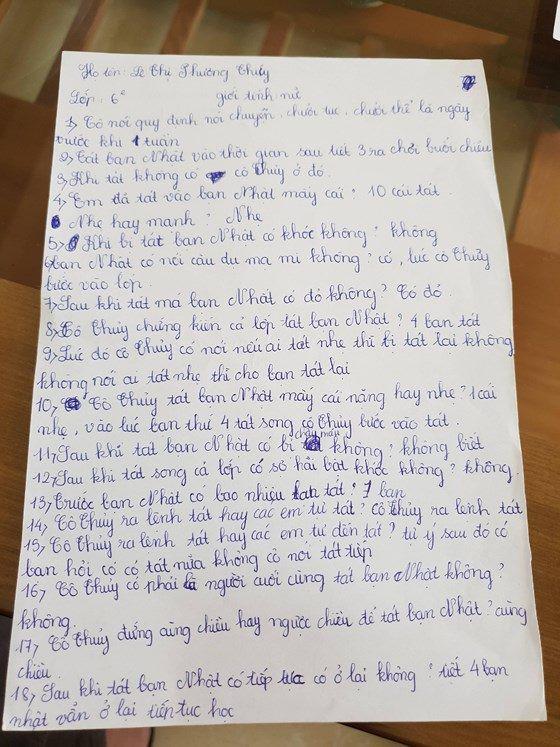 'Hỏi cung' học sinh sau vụ phạt tát 231 cái: Hiệu trưởng trường THCS Duy Ninh bị yêu cầu kiểm điểm 1
