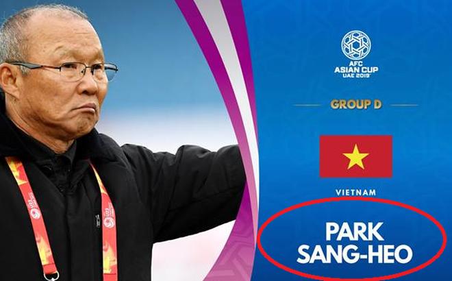 HLV Park Hang-seo bị 'đổi tên' vì sai sót hài hước của AFC 1