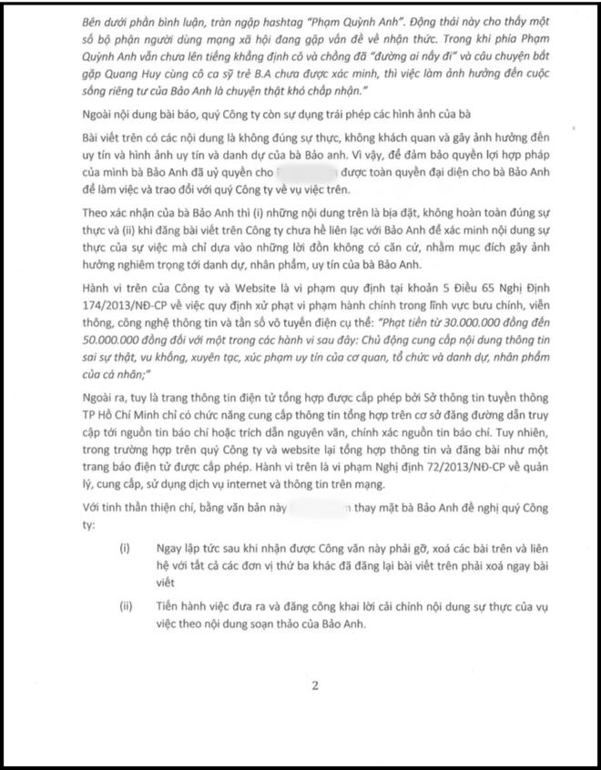 Bảo Anh tung tin nhắn khẳng định lần cuối không liên quan đến đổ vỡ của Phạm Quỳnh Anh và Quang Huy 5