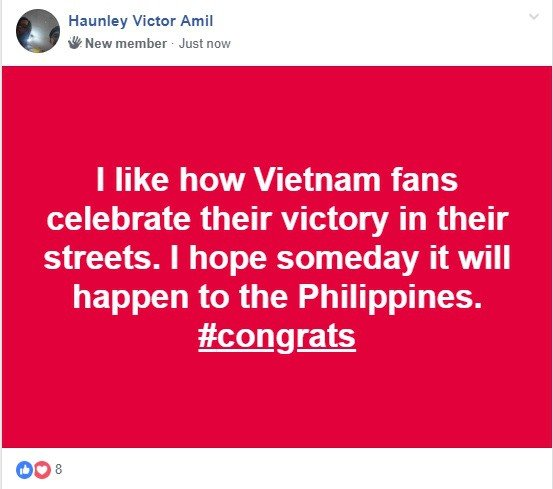 Hình ảnh Người Philippines thán phục, chúc Việt Nam gặp may mắn trước Malaysia trong trận chung kết AFF Cup số 3
