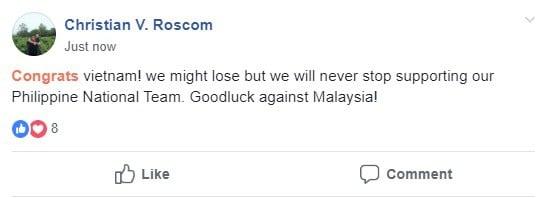 Hình ảnh Người Philippines thán phục, chúc Việt Nam gặp may mắn trước Malaysia trong trận chung kết AFF Cup số 1